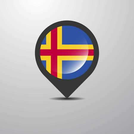 Pin del mapa de Aland