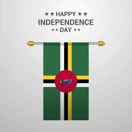 Dominica Independence day hanging flag background