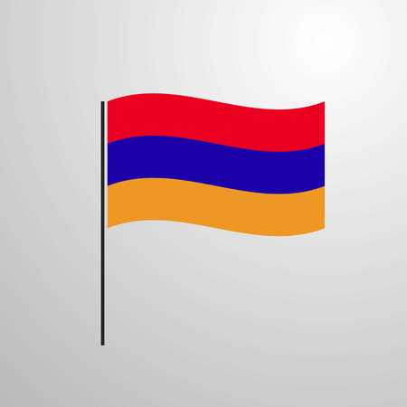 Armenia waving Flag Illustration