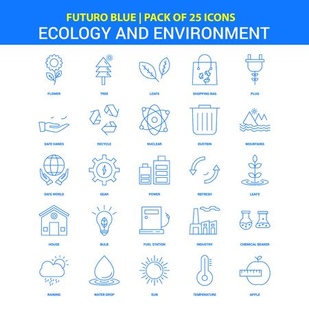Ecology and Enviroment Icons - Futuro Blue 25 Icon pack