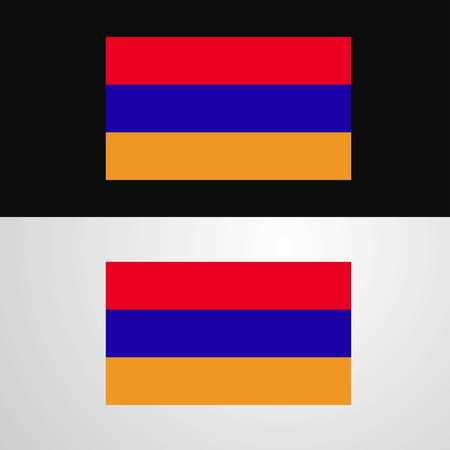 Armenia Flag banner design Illustration
