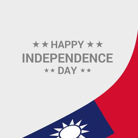 Taiwan independence day design Иллюстрация