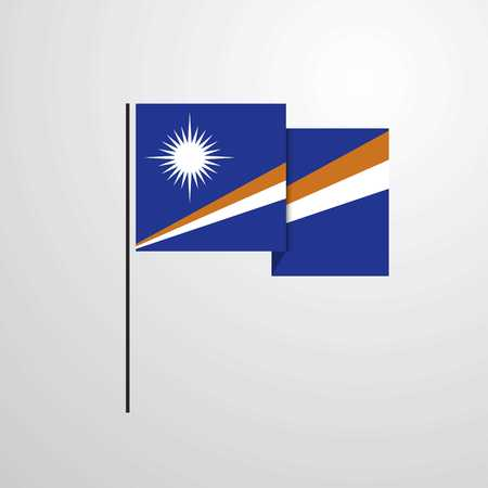 Marshall Islands waving Flag design vector