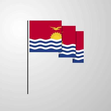 Kiribati waving Flag creative background