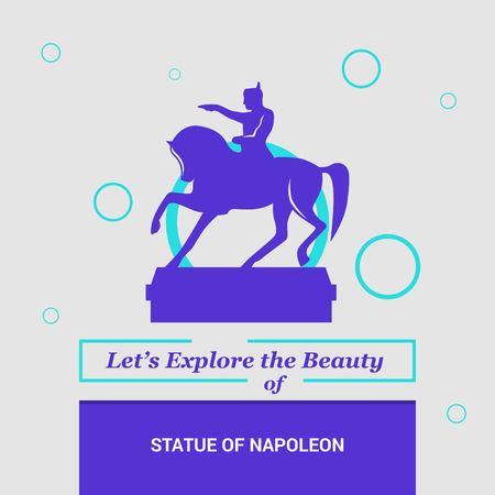 Lets Explore the beauty of Statue of Napoleon Paris, France National Landmarks Illustration
