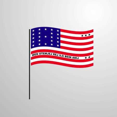 Bikini Atoll waving Flag