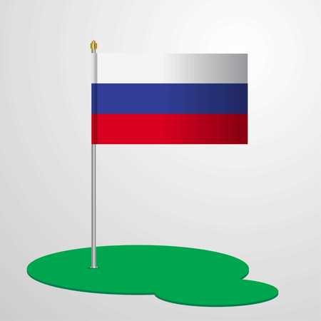 Russia Flag Pole