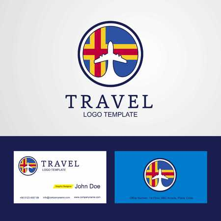 Travel Aland Creative Circle flag Logo and Business card design