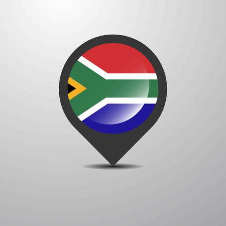 South Africa Map Pin Illustration