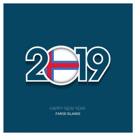 2019 Faroe Islands Typography, Happy New Year Background