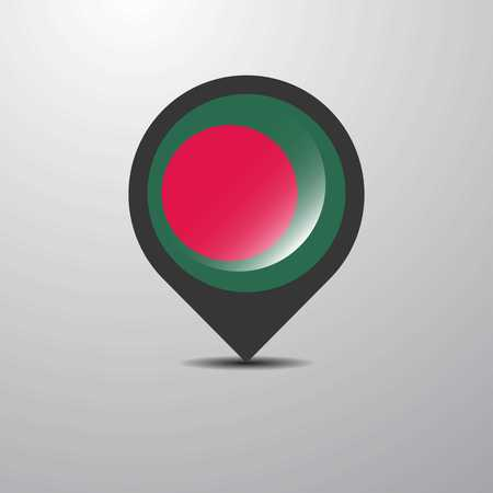 Bangladesh Map Pin Illustration