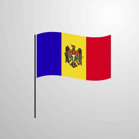 Moldova waving Flag Vektorové ilustrace