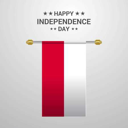 Poland Independence day hanging flag background