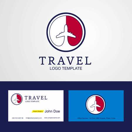 Travel Malta Creative Circle flag Logo and Business card design Illusztráció