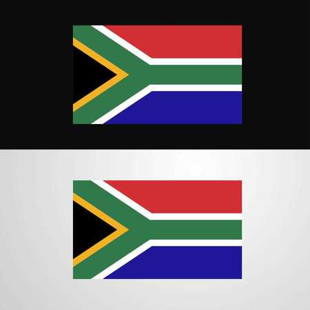 South Africa Flag banner design