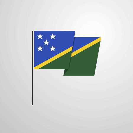 Solomon Islands waving Flag design vector