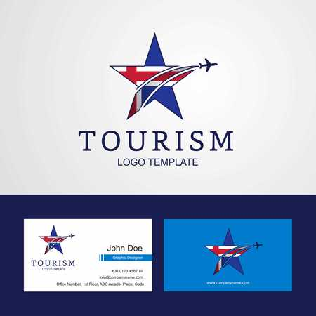 Travel Iceland flag Creative Star Logo and Business card design