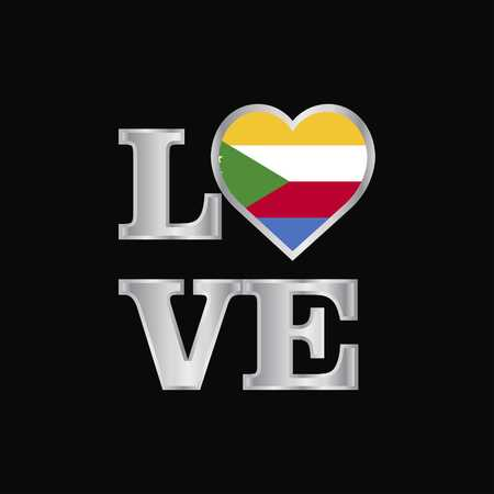 Love typography Democratic Republic of the Congo flag design vector beautiful lettering
