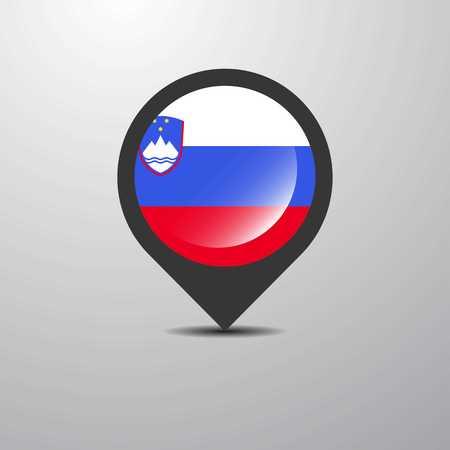 Slovenia Map Pin