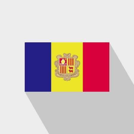 Andorra flag Long Shadow design vector