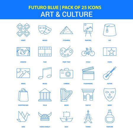 Art and Culture Icons - Futuro Blue 25 Icon pack