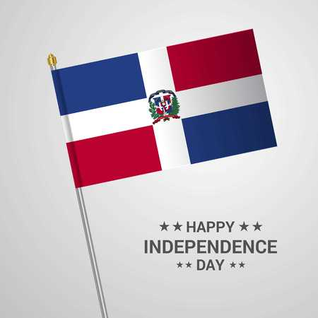 Dominican Republic Independence day typographic design with flag vector Ilustração