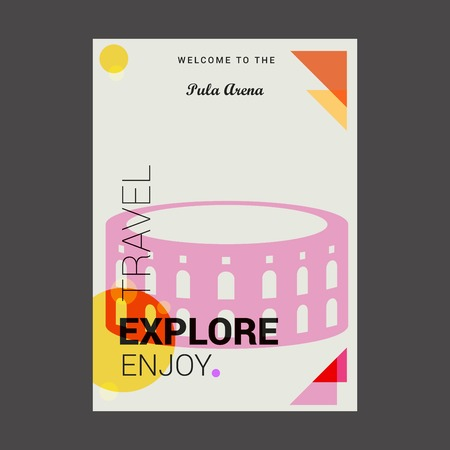 Welcome to The Pula Arena Pula, Croatia Explore, Travel Enjoy Poster Template