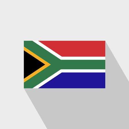 South Africa flag Long Shadow design vector