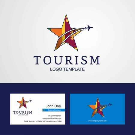 Travel Sri Lanka flag Creative Star Logo and Business card design