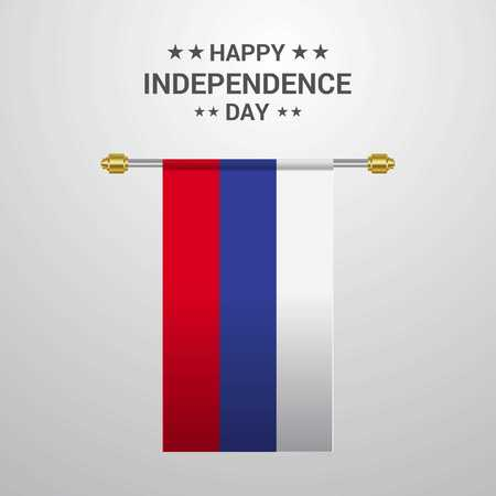 Russia Independence day hanging flag background