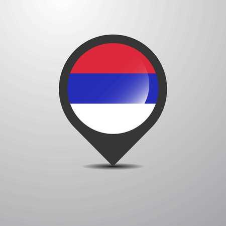 Republika Srpska Map Pin Illustration