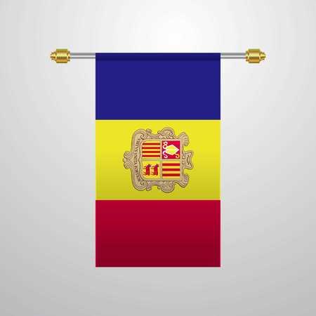 Andorra hanging Flag Illusztráció