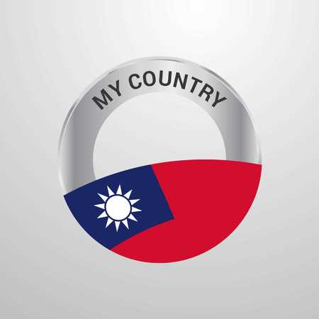 Taiwan My Country Flag badge