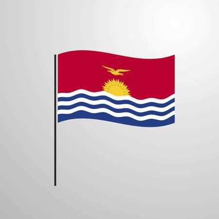 Kiribati waving Flag Vektoros illusztráció