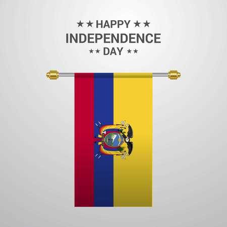 Easter Island Rapa Nui Independence day hanging flag background Foto de archivo - 111235558