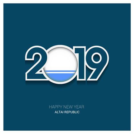 2019 Altai Republic Typography, Happy New Year Background