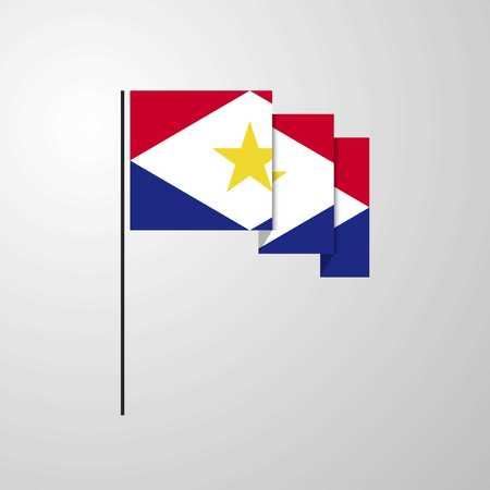 saba waving Flag creative background