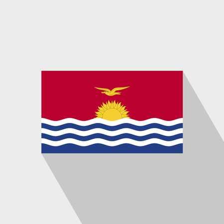 Kiribati flag Long Shadow design vector Vektoros illusztráció