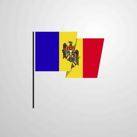 Moldova waving Flag design vector
