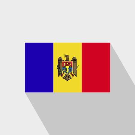 Moldova flag Long Shadow design vector Vektorové ilustrace