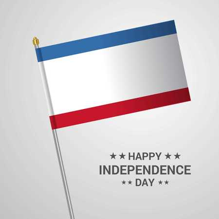 Crimea Independence day typographic design with flag vector