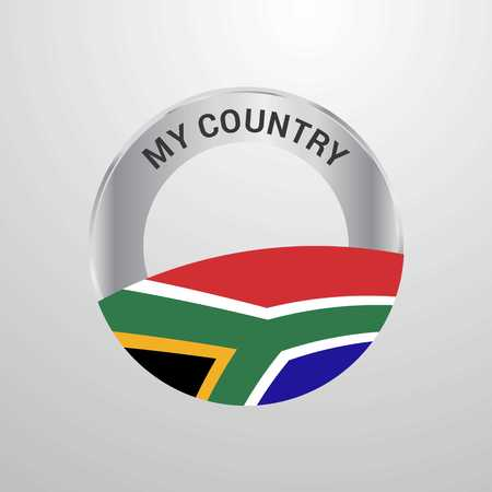 South Africa My Country Flag badge Illustration