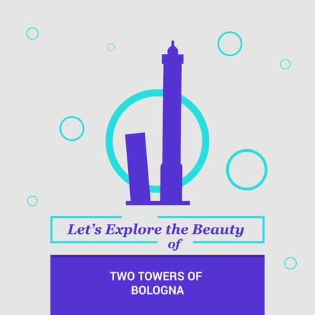 Lets Explore the beauty of Two Towers of Bologna , Italy. National Landmarks