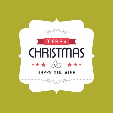 Merry Christmas creative design with typography vector Ilustrace