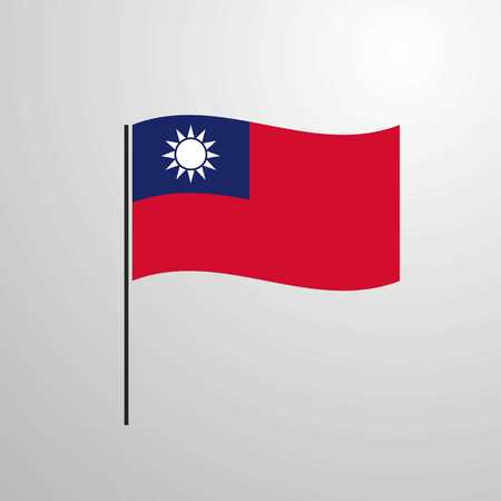 Taiwan waving Flag Illustration