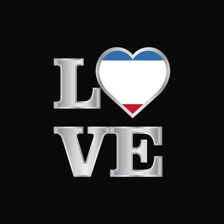 Love typography Crimea flag design vector beautiful lettering