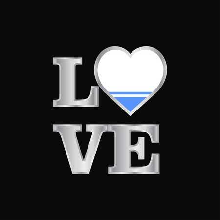 Love typography Altai Republic flag design vector beautiful lettering