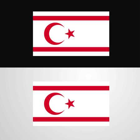 Northern Cyprus Flag banner design
