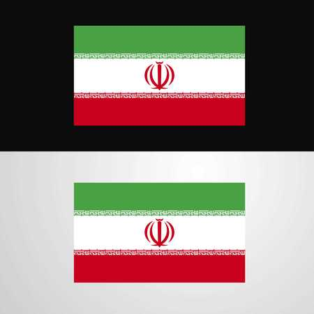 Iran Flag banner design