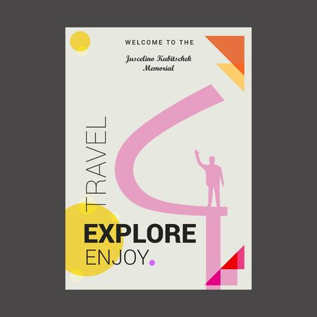 Welcome to The Juscelino Kubitschek Memorial Eixo Monumental, Brasília Explore, Travel Enjoy Poster Template